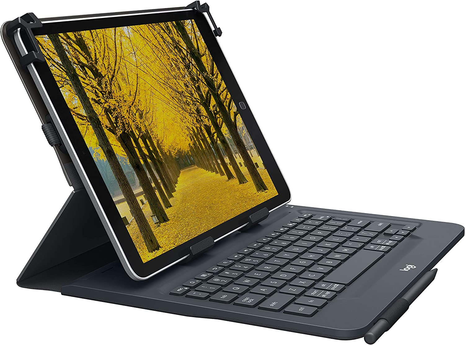"Logitech Universal Folio with Integrated Bluetooth 3.0 Keyboard for 9-10"" Apple, Android, Windows Tablets - Compatible with Models Listed"
