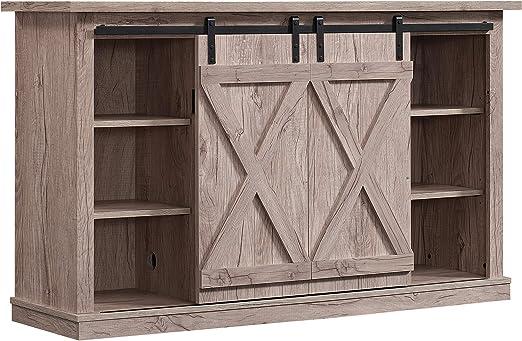 Amazon Com Pamari Wrangler Sliding Barn Door Tv Stand Ashland