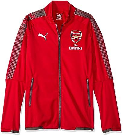 Amazon.com   PUMA 2017-2018 Arsenal Stadium Jacket (Chilli Pepper ... ab90f9023