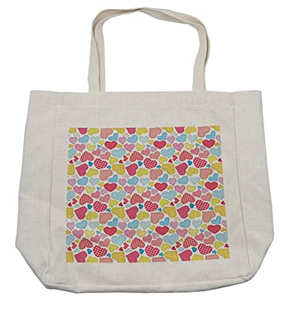 Amazon Lunarable Hearts Shopping Bag Old School Vintage