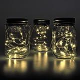 Schlussverkauf Solar Mason Jar Licht Wasserdichte Glasgläser Garten Jar Fee Licht