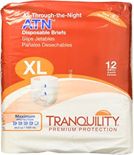 Tranquility ATN™ (All-Through-the-Night) Adult Disposable Briefs -