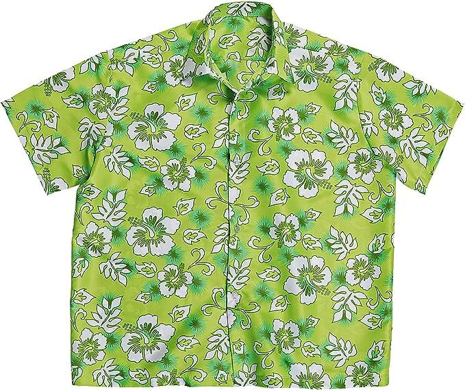 WIDMANN Camisa Hawaiana verde hombre - XL: Amazon.es: Juguetes y juegos