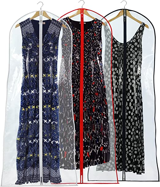 Brand New Blue w// White Trim Breathable Bridal Gown Dress Garment Bag