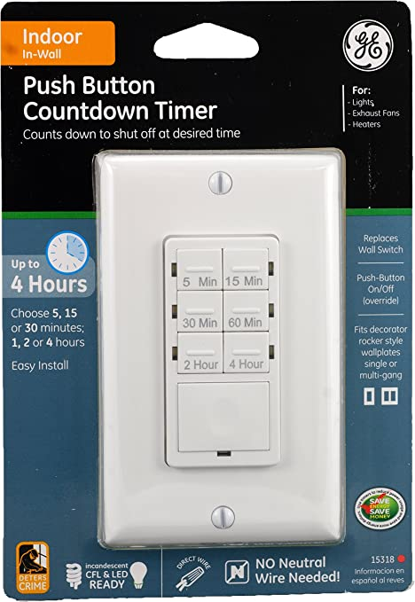 ge 15318 push button in wall digital countdown timer wall timer ge 15318 push button in wall digital countdown timer wall timer switches amazon