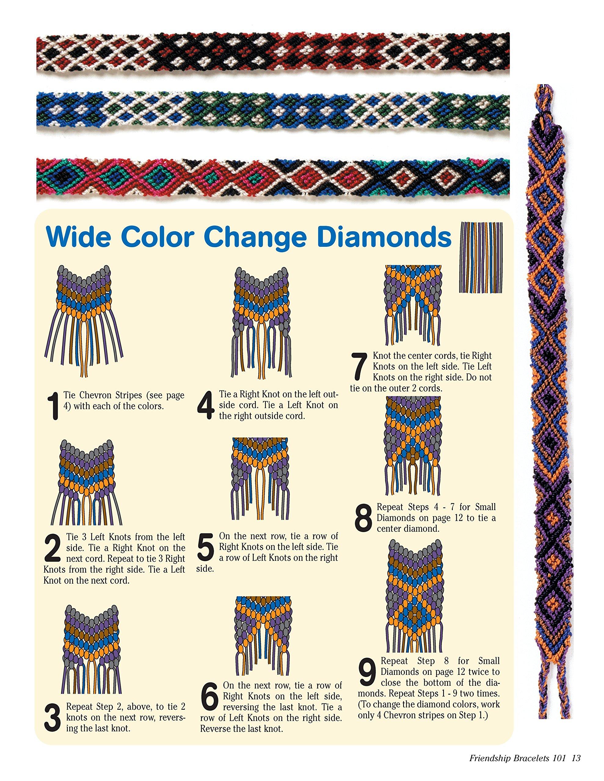 Friendship Bracelet Patterns 3 Colors 6 Strings