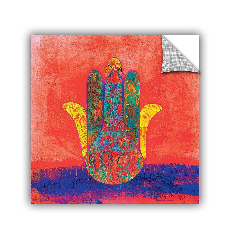 ArtWall Elana Rays Hand of Fatima Art Appeelz Removable Wall Graphic Art 18 by 18