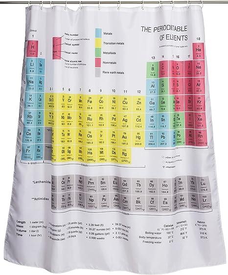 Adorno de química de la cortina de ducha - Multi color