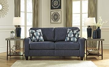 Amazon.com: Burgos Contemporary Navy Color Fabric Sofa ...