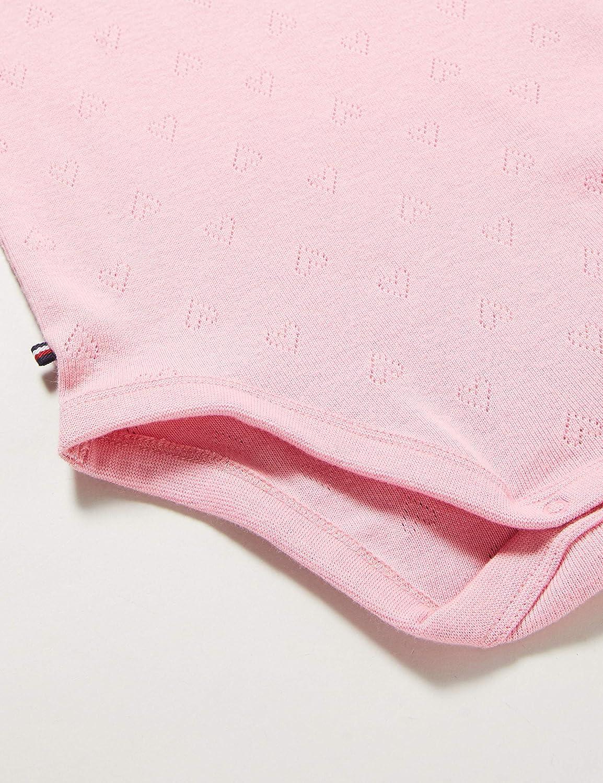 Tommy Hilfiger Baby Girl Ruffle Collar Body S//S Unisex-Bimbi