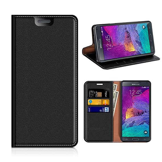 watch aedb5 76df9 Samsung Galaxy Note 4 Wallet Case, Mobesv Samsung Note 4 Leather Case/Phone  Flip Book Cover/Viewing Stand/Card Holder for Samsung Galaxy Note 4, Black