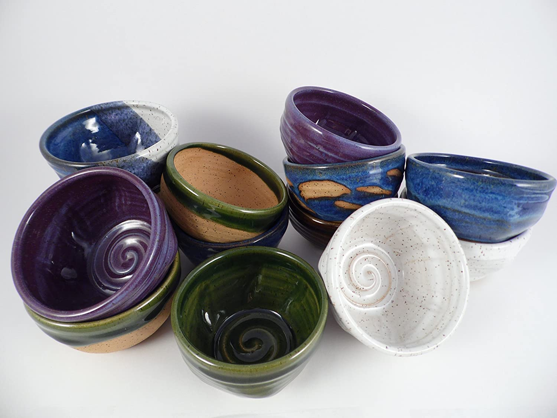 amazon com handmade blue pottery shaving bowl for men handmade