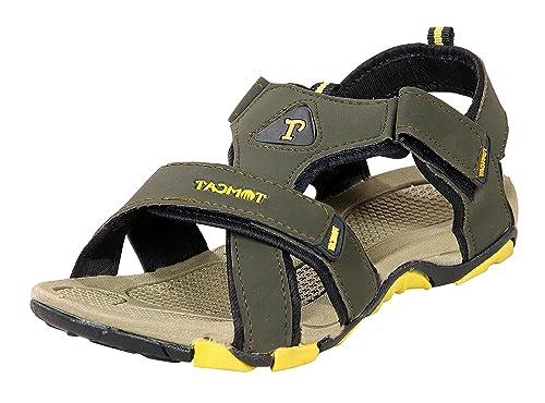 b1dadfedf955 Tomcat Men Mehndi   Yellow Floater Sandals  Buy Online at Low Prices ...