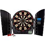 Franklin Sports Electronic Dartboards, Soft Tip, LCD Digital Scoring, 6 Brass Plated Darts