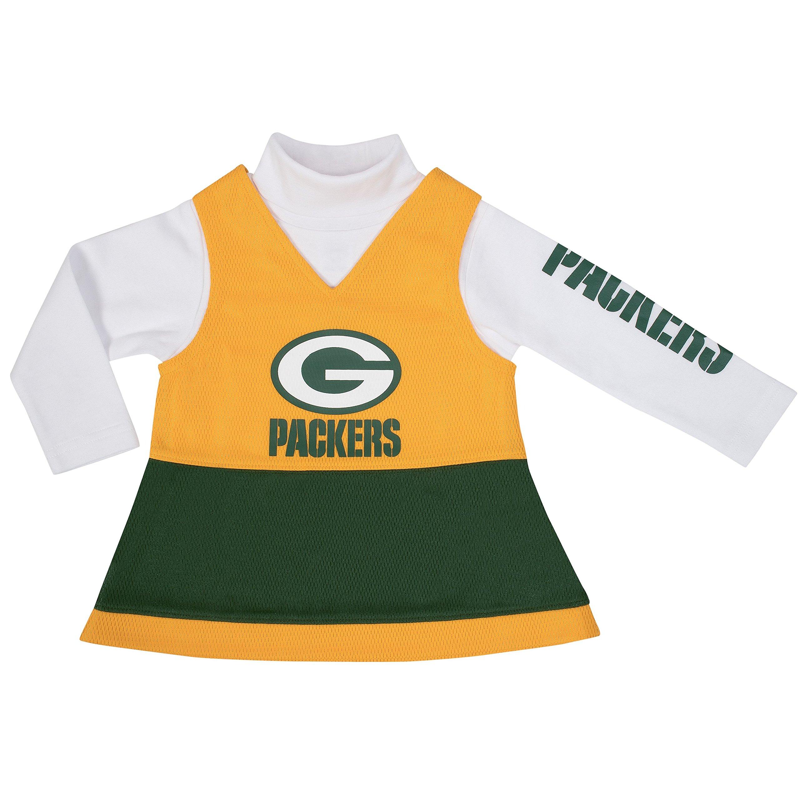 premium selection f1f7c fc5d8 Gerber Childrenswear NFL Bay Packers Female Jumper Set ...