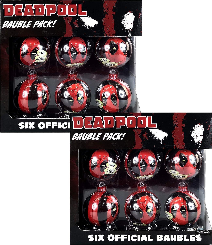 Bolas para árbol de Navidad, diseño de Star Wars, Marvel y DC Comics, 6 paquetes – elegir entre 8 estilos disponibles en varios juegos Marvel Deadpool: Amazon.es: Hogar