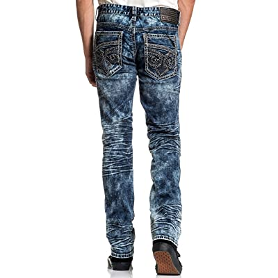 Affliction Gage Fleur Quincy Skinny Leg Fit Fashion Denim Jeans Pants for Men at Amazon Men's Clothing store