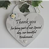 Thank you for being part of our special day - Bridesmaid wooden gift plaque