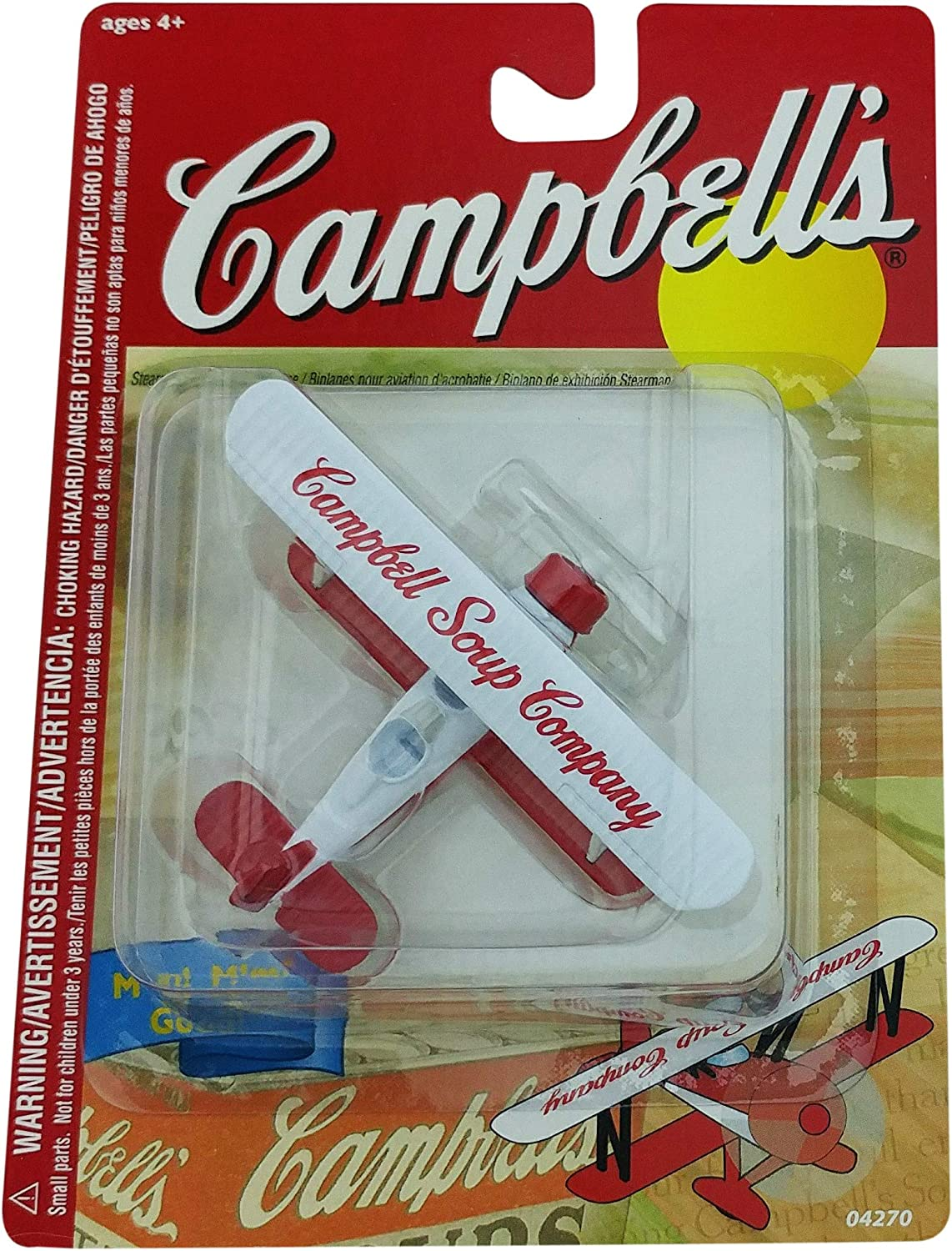 Campbell's Soup Company Stearman Barnstormer Biplane by Gearbox Toys