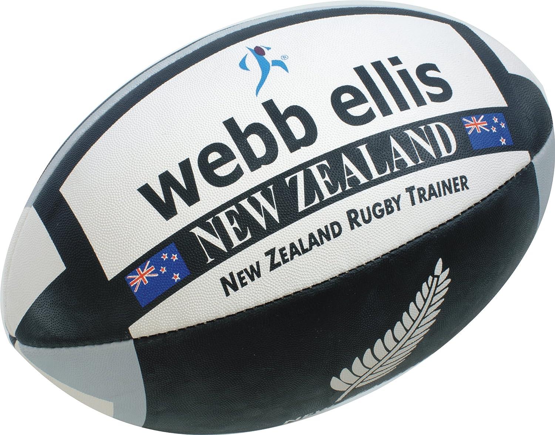 Webb Ellis New Zealand - Balón de rugby para hombre negro/gris ...