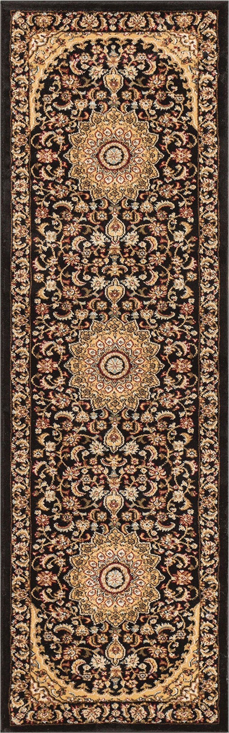 Well Woven 36432 Timeless Aviva Traditional French Country Oriental Black Rug 2'3'' x 7'3'' Runner