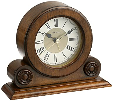 Nice Seiko Desk And Table Alarm Clock Brown Alder Case