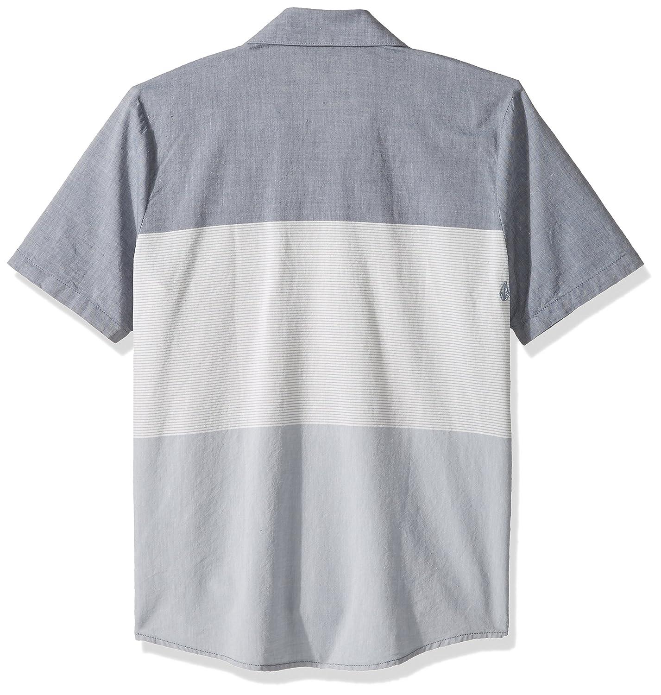 de115caf Amazon.com: Volcom Big Boys' Crestone Short Sleeve Button up Shirt Deep  Blue: Clothing