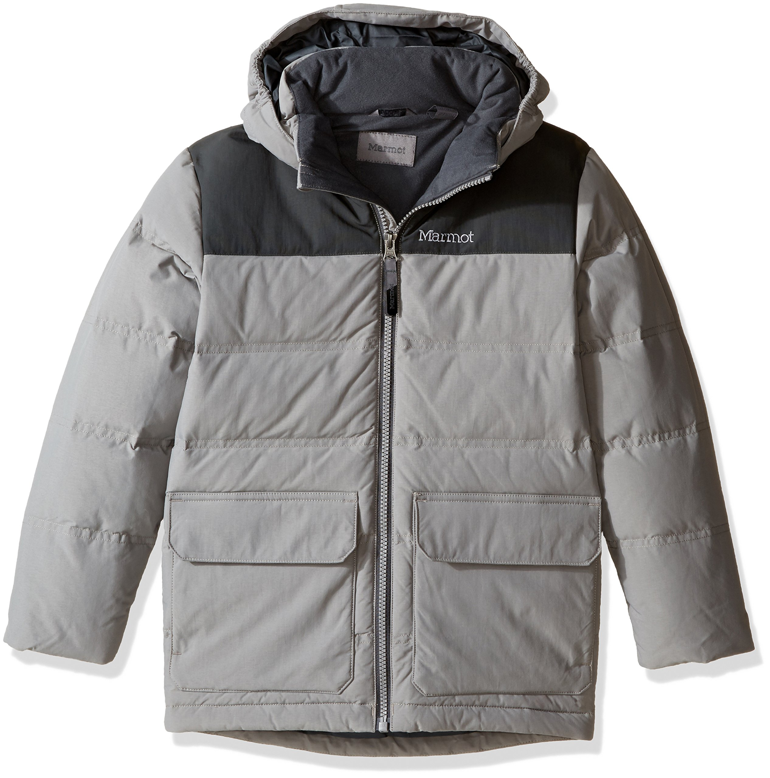 Marmot Boys' Rail Jacket, Phantom Grey/Slate Grey, Medium