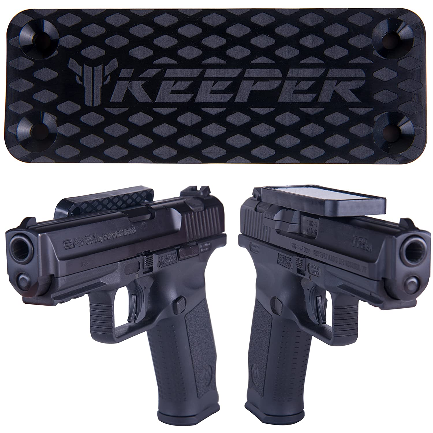 Magnetic Gun Mount & Holster For Vehicle And Home - HQ Rubber Coated 35 Lbs Rated - Firearm Accessory. Concealed Holder For Handgun, Rifle, Shotgun, Pistol, Revolver, Truck, Car, Wall, Vault, Desk. KEEPER MG OC-68768