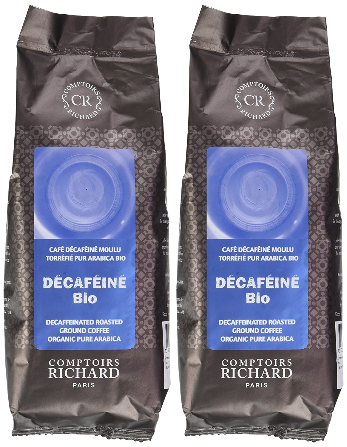 Comptoirs Richard Decafeine Moulu Pur Arabica Bio Comptoirs Richard