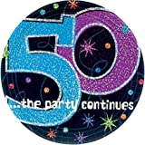 50 ...the party continues Plastic Table Cover Party Favor Amscan 579796