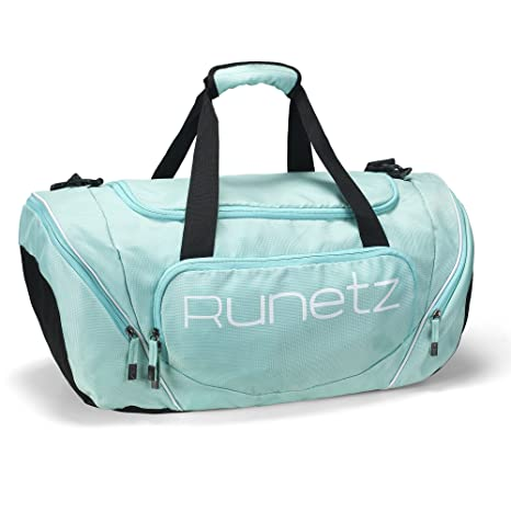 b4e64e1668 Amazon.com  Runetz - Gym Bag for Women and Men - Ideal Workout Overnight  Weekend Bag - Sport Duffle Bag - Large Size