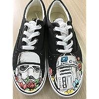 8848aeda22 Star Wars Custom Vans Authentic Custom Shoes Vans Authentic Custom Hand  Painted Shoes Hand Painted Vans
