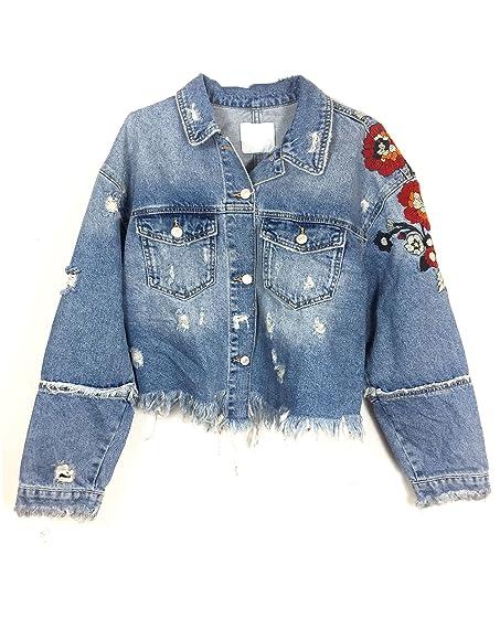Zara Women Embroidered denim jacket 6045/200 (Small)