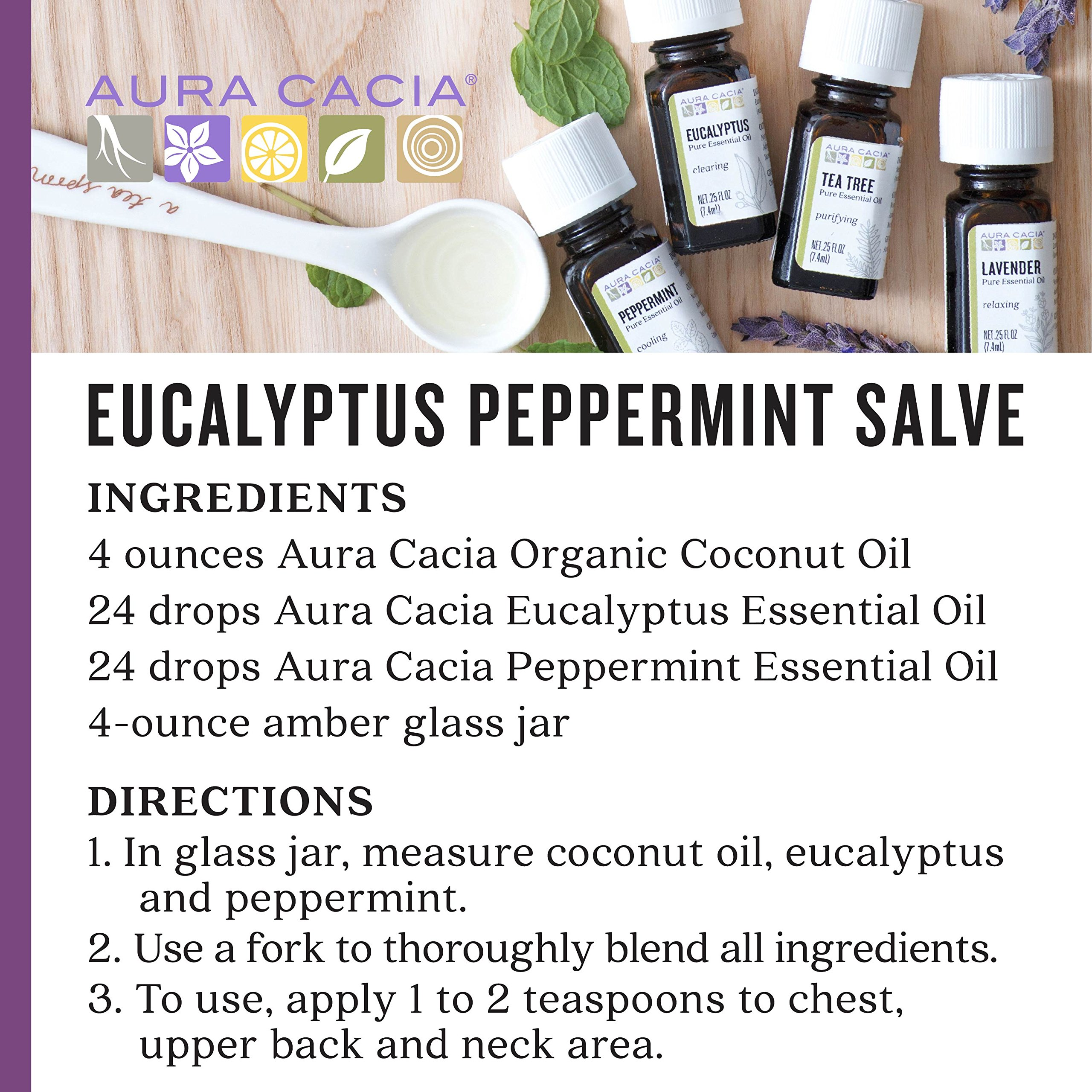 Aura Cacia - Discover Essential Oils Kit (Packaging May Vary) | .25oz each of Lavender, Peppermint, Tea Tree and Eucalyptus by Aura Cacia (Image #5)
