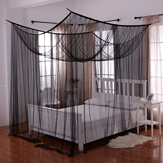 Heavenly 4 Post Bed Canopy Black