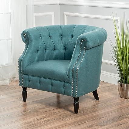 Peachy Akula Scroll Fabric Club Chair With Nail Head Accents Dark Teal Machost Co Dining Chair Design Ideas Machostcouk