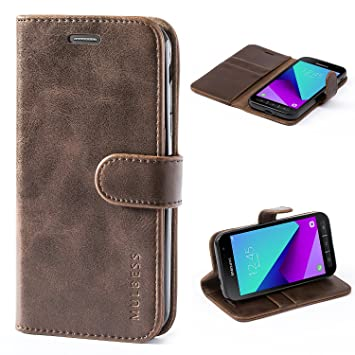 low priced 6ff67 85c44 Samsung Galaxy XCover 4 Case,Mulbess Leather Case, Flip Folio Book Case,  Money Pouch Wallet Cover with Kick Stand for Samsung Galaxy XCover 4,Coffee  ...