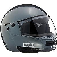 Studds Full Face Helmet Ninja Pastel (Plain Gun Grey, M)