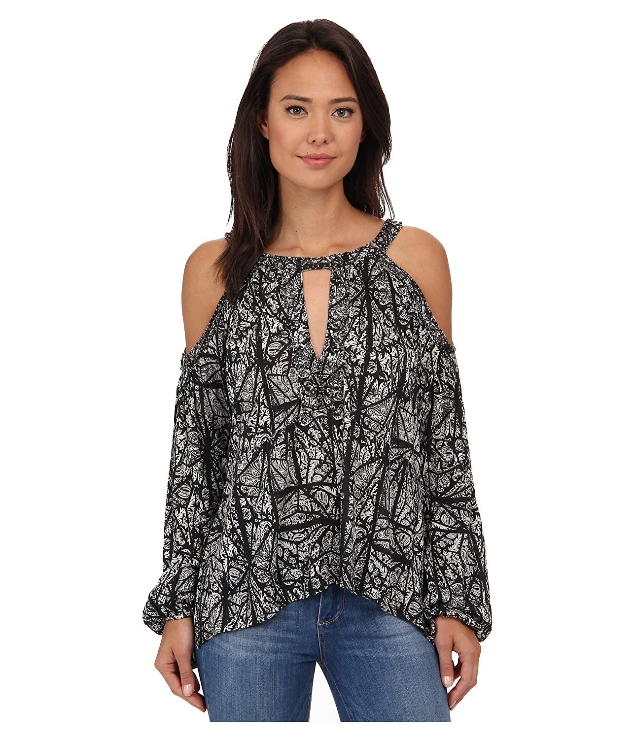 6055cb1aab63ab Free People Good Morning Cold Shoulder Top