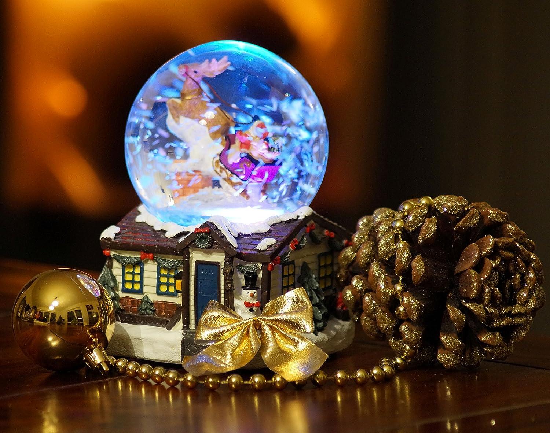 XL LED Schneekugel Weihnachten elektrischer Schneewirbel, viele ...
