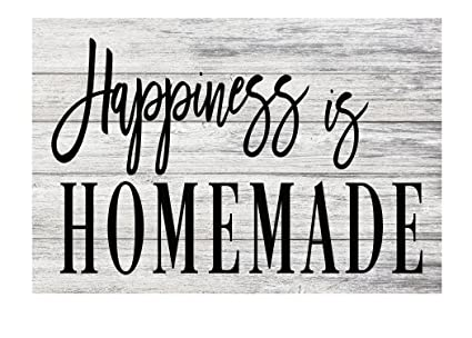 graphic about Happiness is Homemade known as PhotoSteel Pleasure is Home made Farmhouse Rustic Steel Indication - 12\