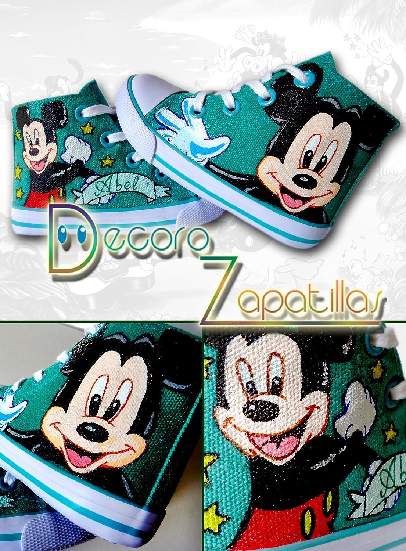 Zapatillas customizadas personalizados lona Mickey, Hora de aventuras, Princesas Disney - regalos para Navidad - regalos para niñas - regalos para niños ...