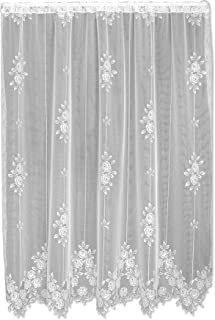 product image for Heritage Lace Tea Rose 60-Inch Wide by 84-Inch Drop Panel, Ecru