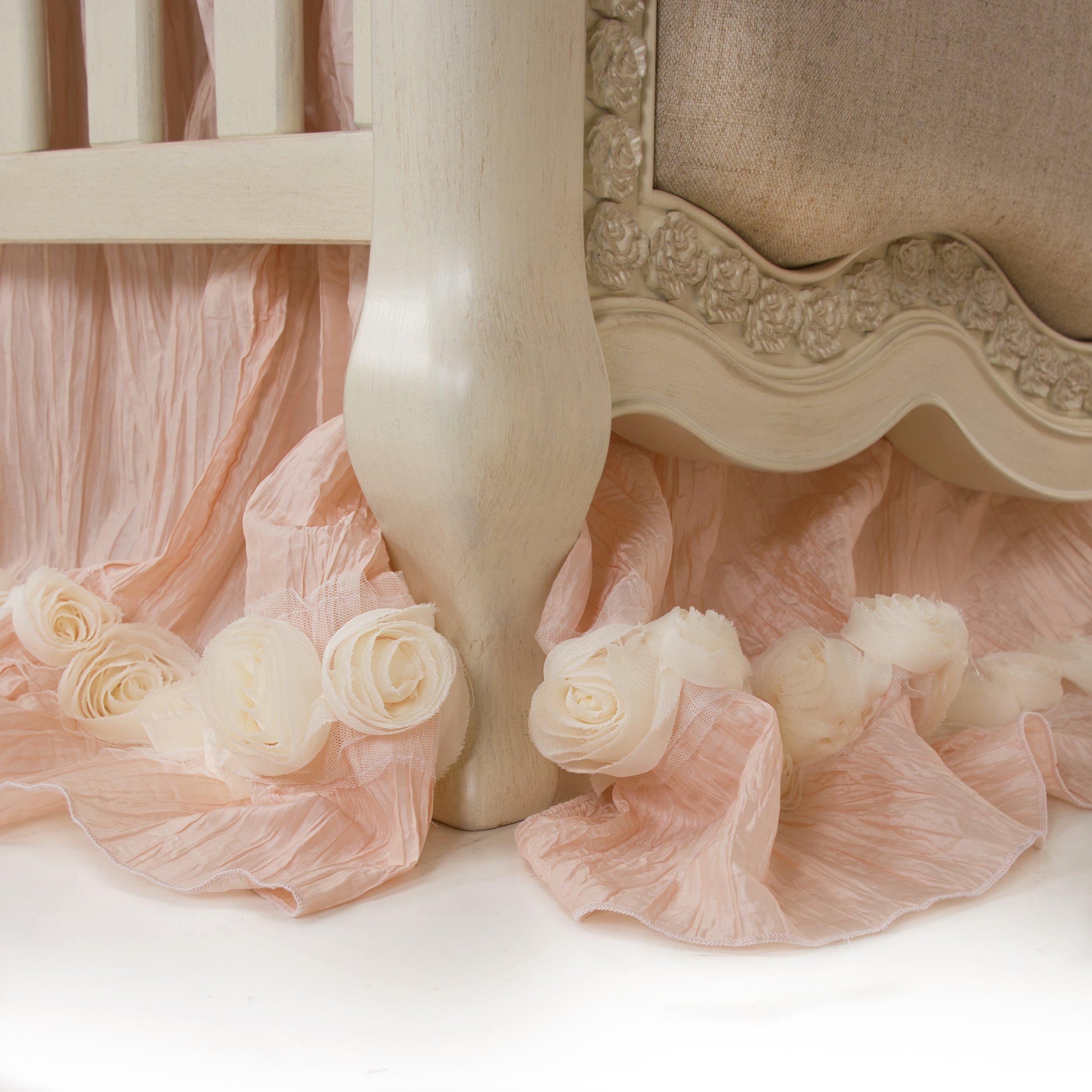 Glenna Jean Crib Skirt Contessa Dust Ruffle for Baby Nursery Crib