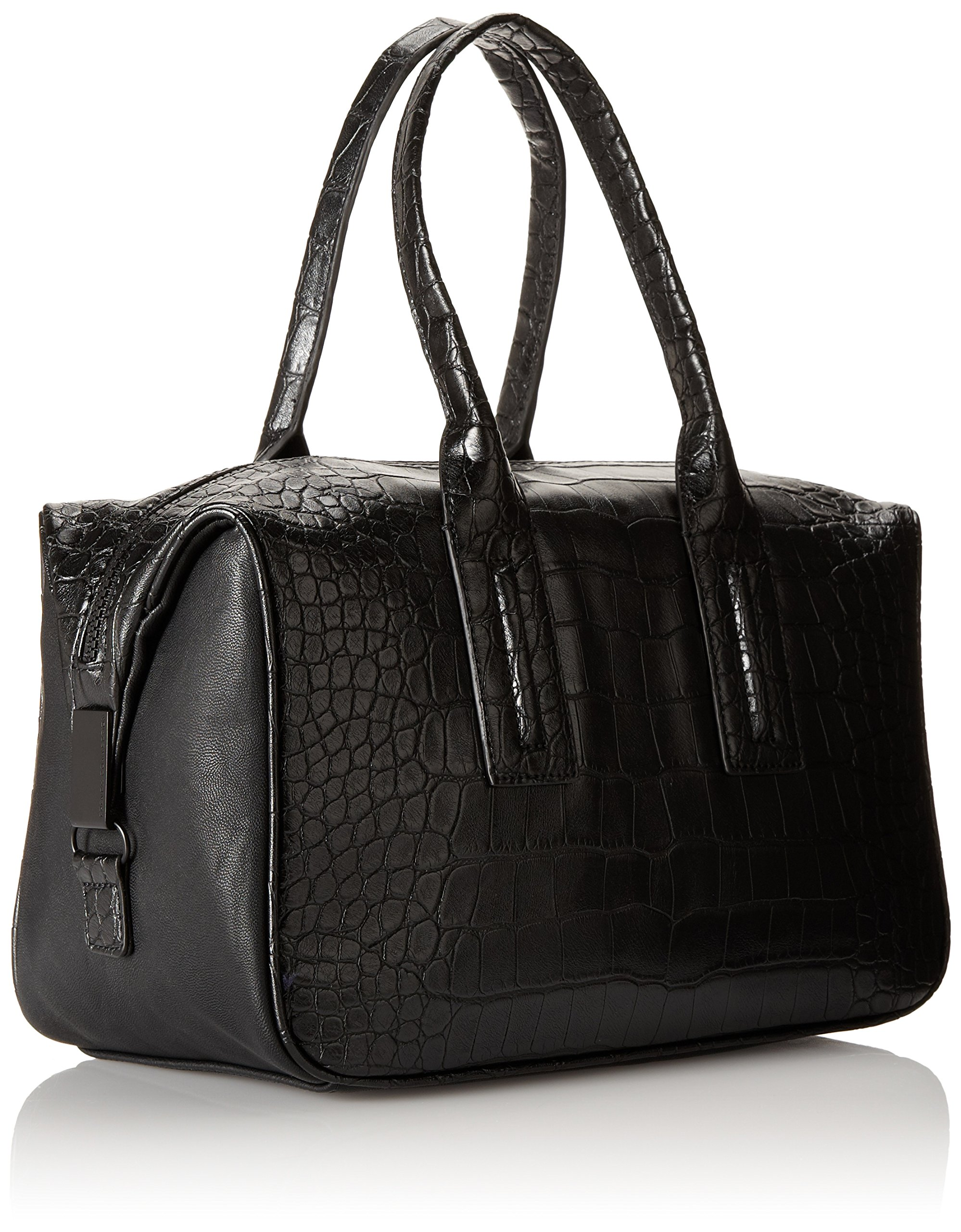 French Connection Shes A Lady Satchel,Black Crocodile,One Size by French Connection (Image #2)