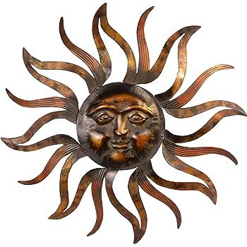 Amazon Com Deco 79 57752 Metal Rising Sun With Cosmic