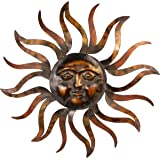35 Inch Large Metal Sun Wall Decor Sculpture