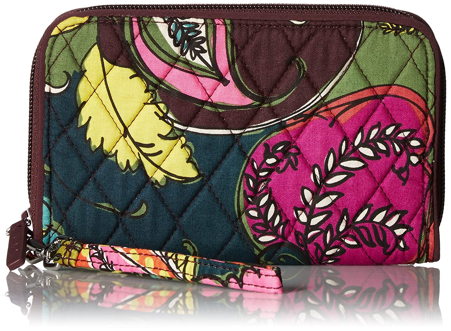 Vera Bradley RFID Grab & Go Wristlet, Signature Cotton Autumn Leaves 21202