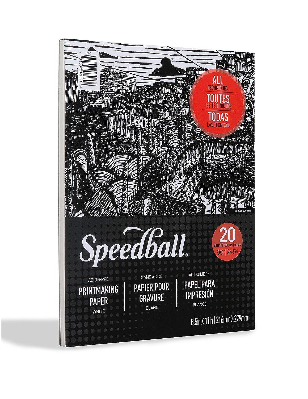 White 11 x 14 Speedball 7082 Printmaking Paper Pad